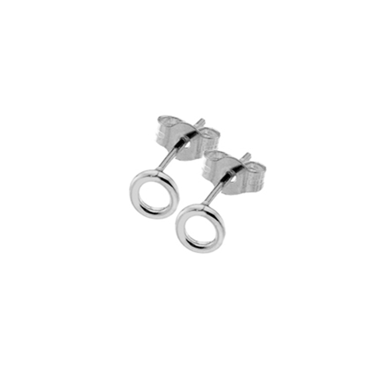 32578d65d 9ct White Gold open circle Stud Earrings