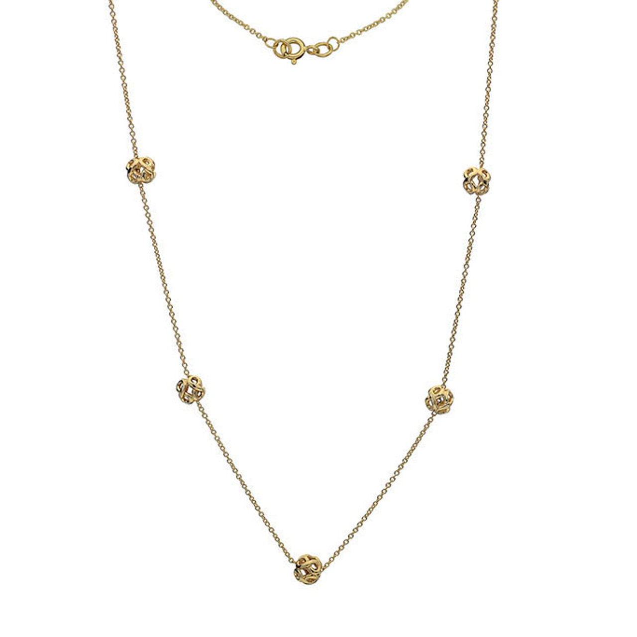 9ct Yellow Gold Infinity bead Necklace