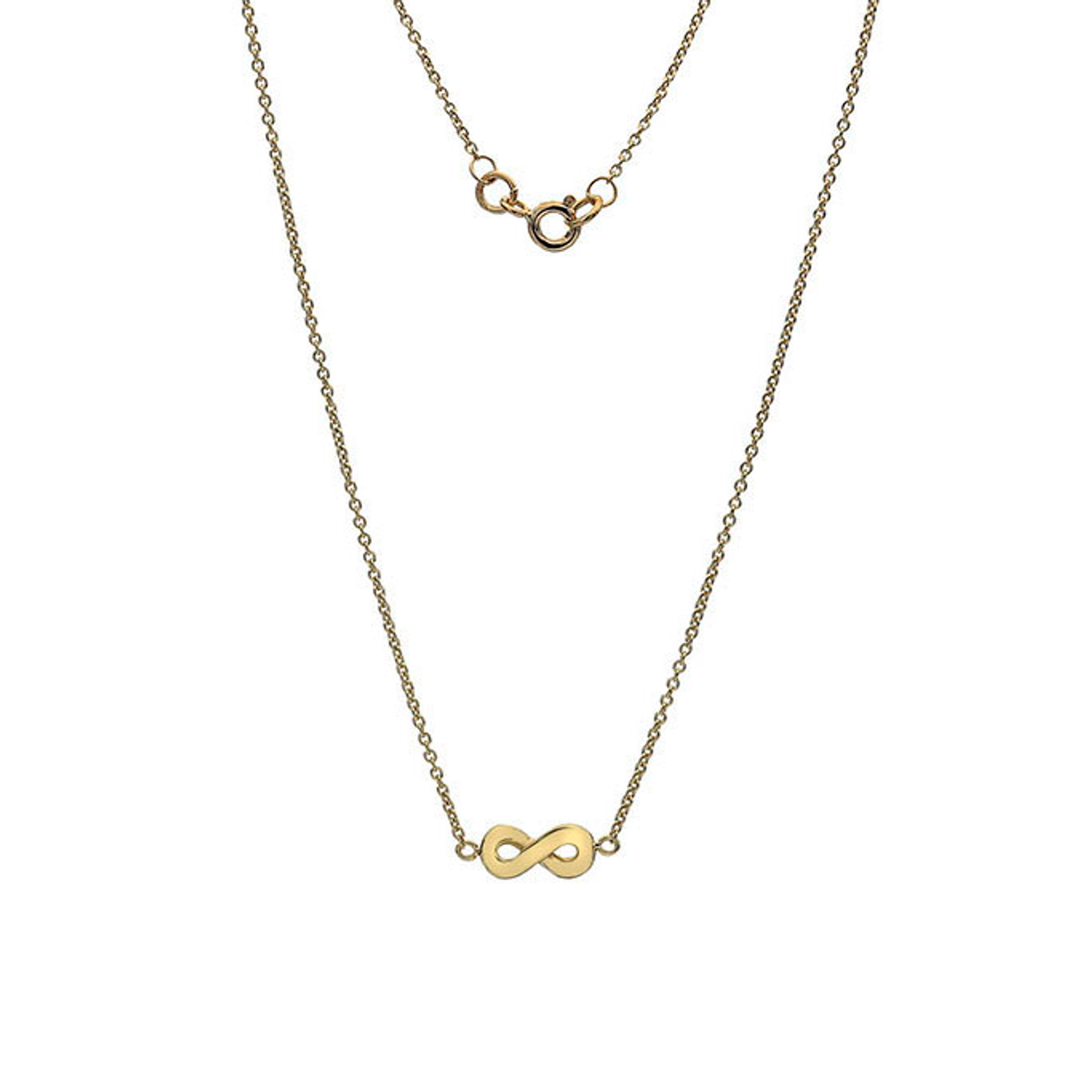 9ct Yellow Gold Infinity Pendant on Chain