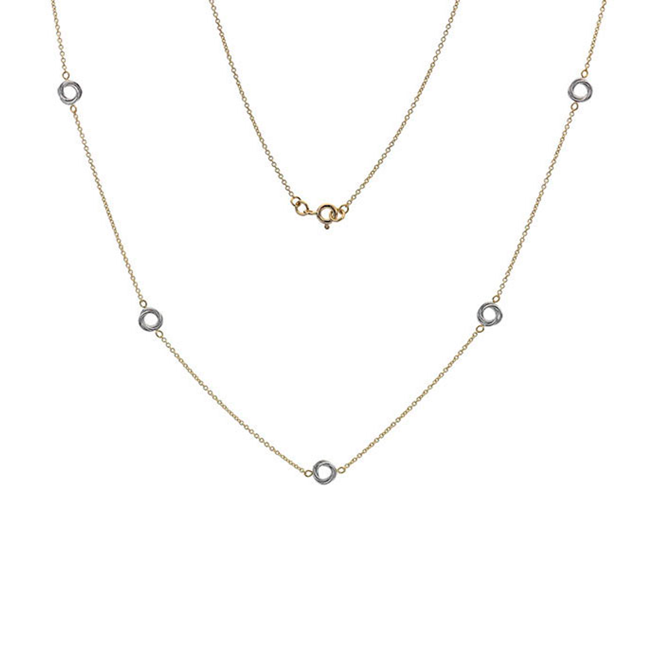 9ct Yellow & White Gold Woolmark Necklace