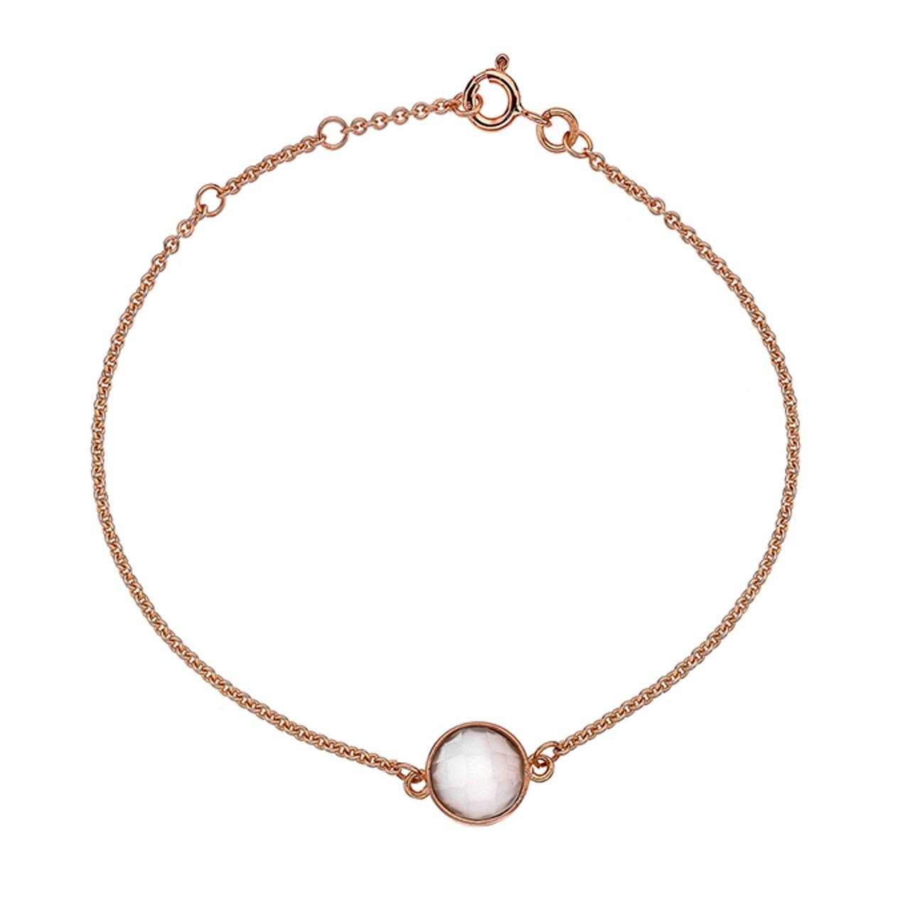 9ct Rose Gold & Moonstone Bracelet