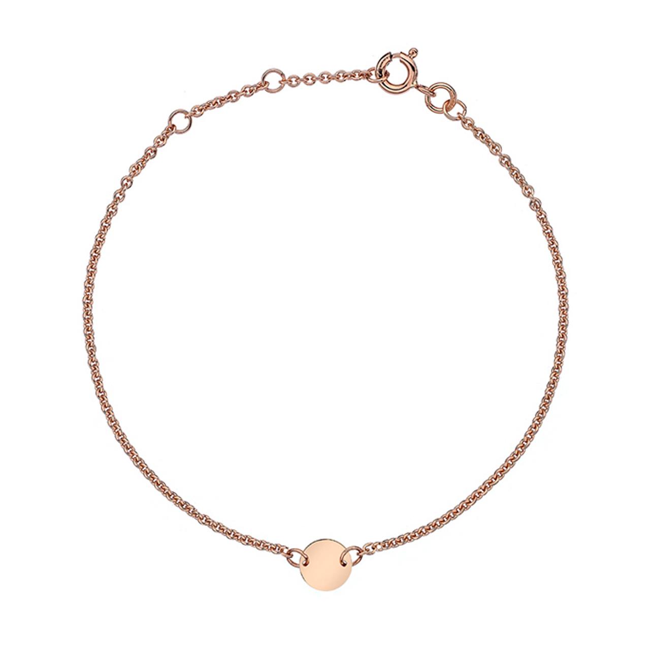 9ct Rose Gold disc Bracelet