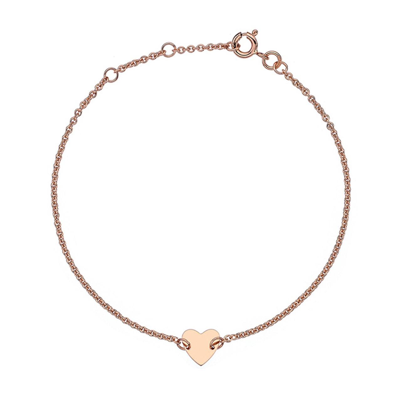 9ct Rose Gold heart Bracelet