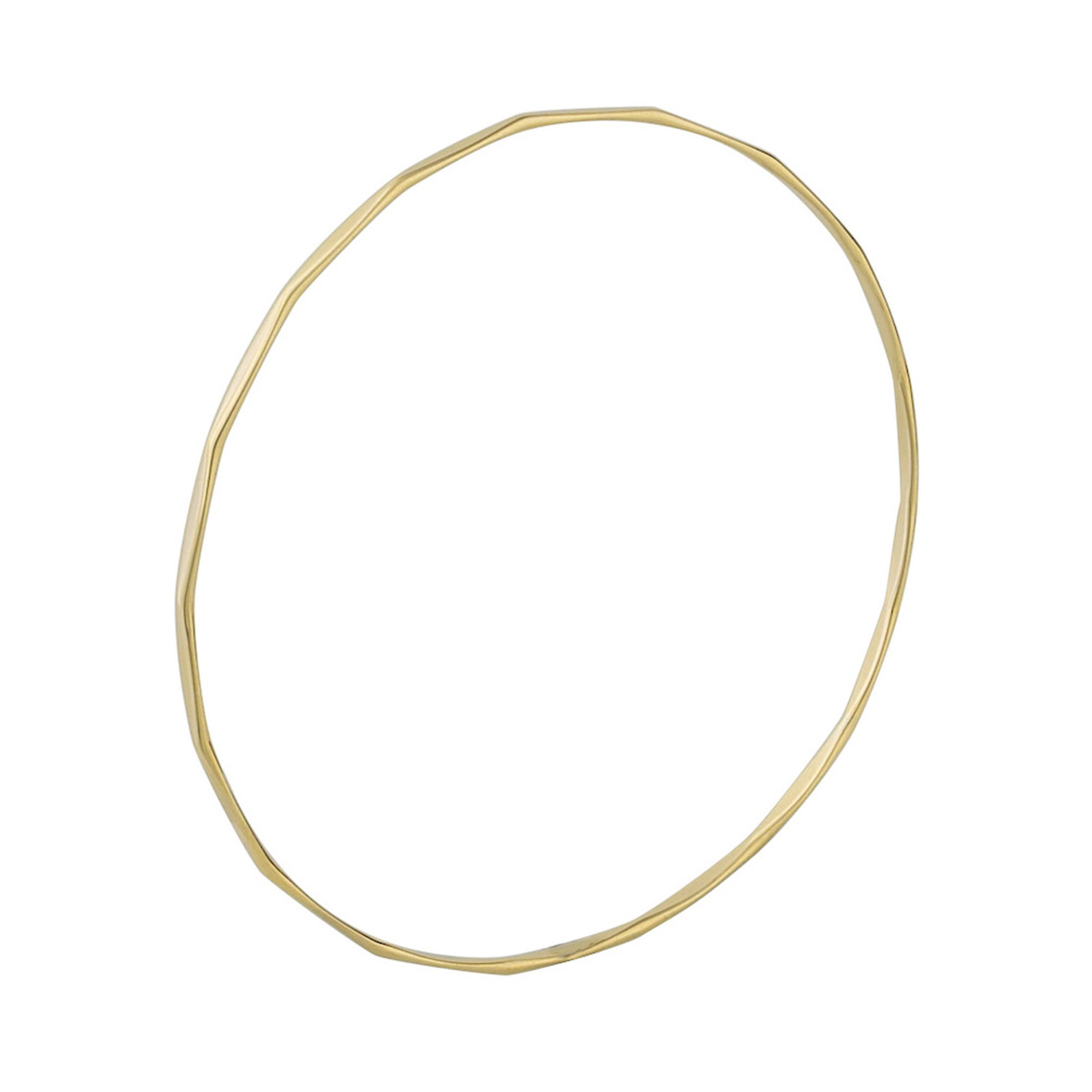 9ct Yellow Gold 1.9mm facet Bangle