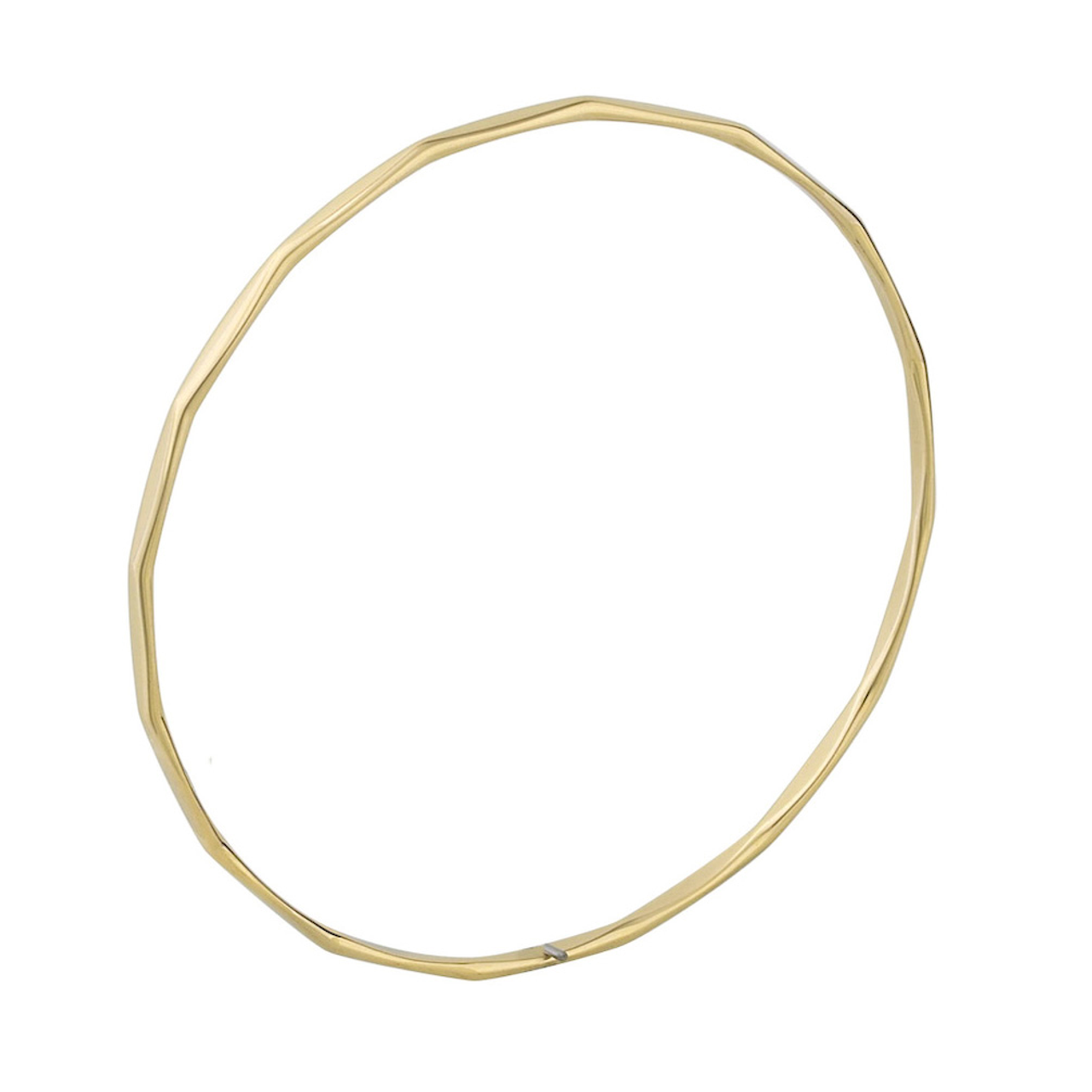 9ct Yellow Gold 2.5mm facet Bangle