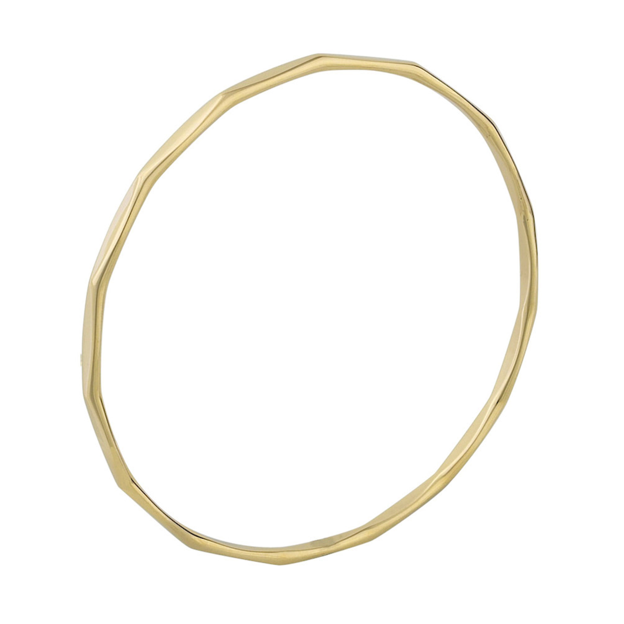 9ct Yellow Gold 3mm facet Bangle