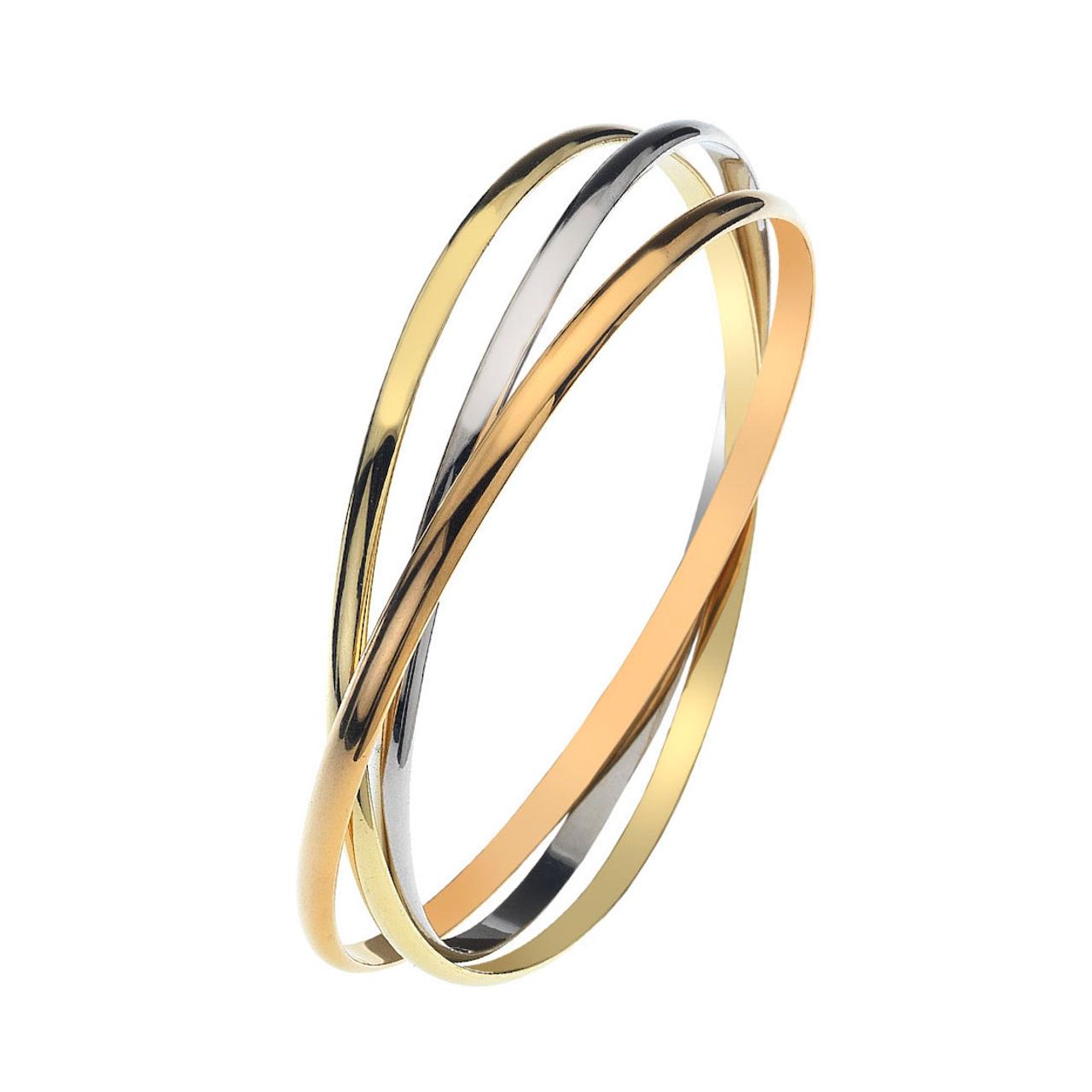 9ct Yellow, White & Rose Gold Bracelet