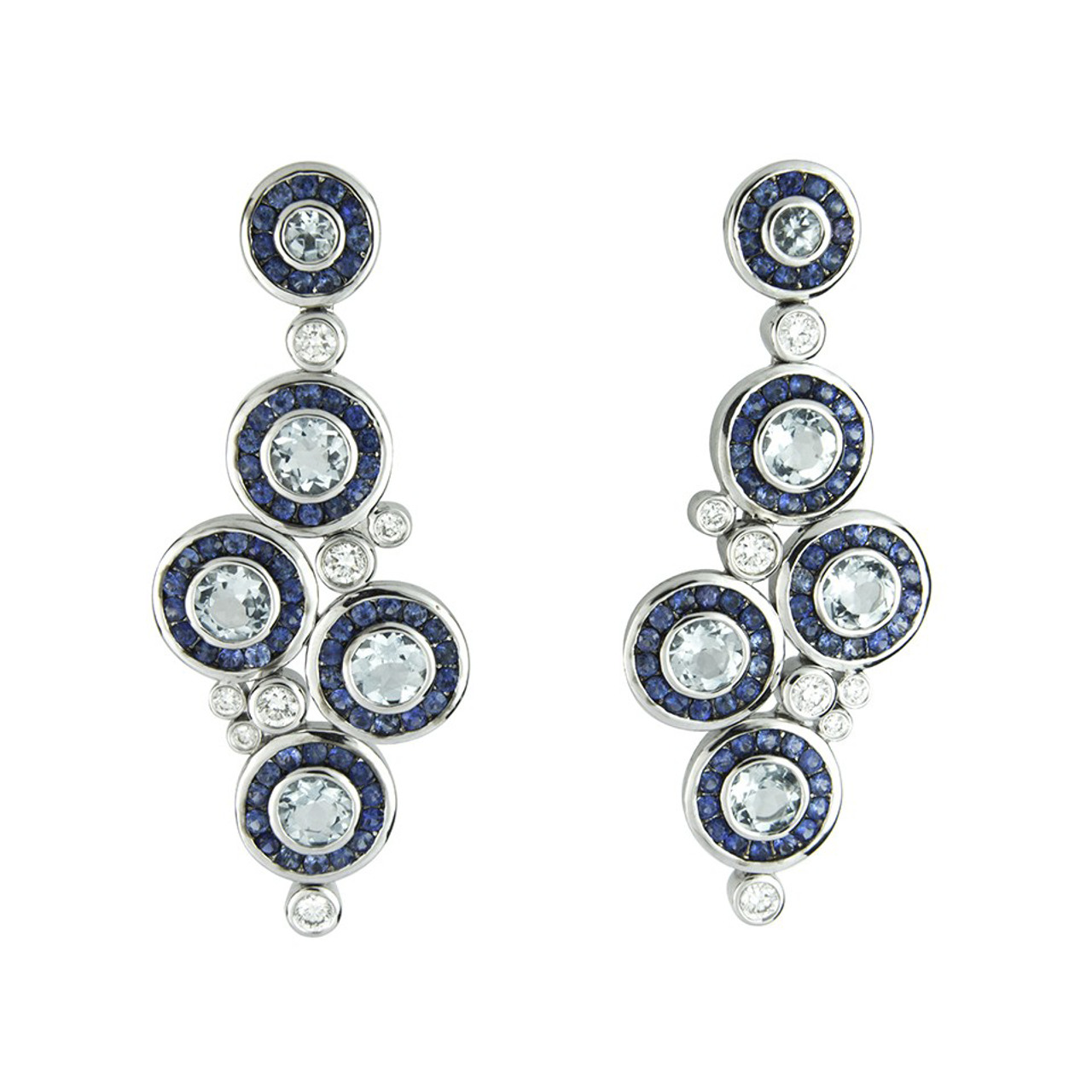 18ct White Gold Dewdrop Earrings