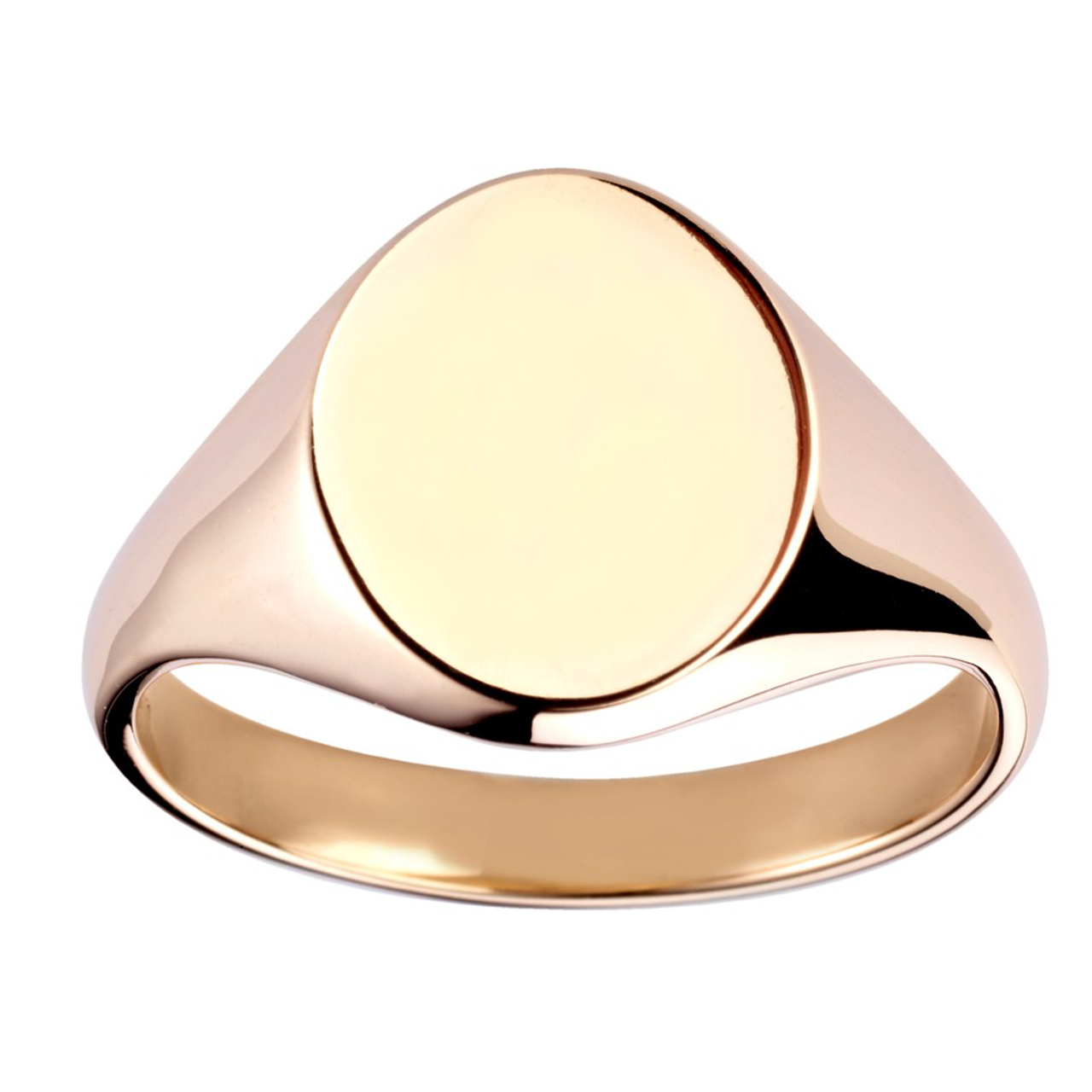 9ct Yellow Gold 13x11mm Oval Signet Ring
