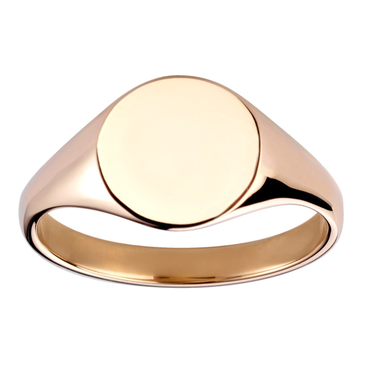 9ct Yellow Gold 10x8mm Oval Signet Ring