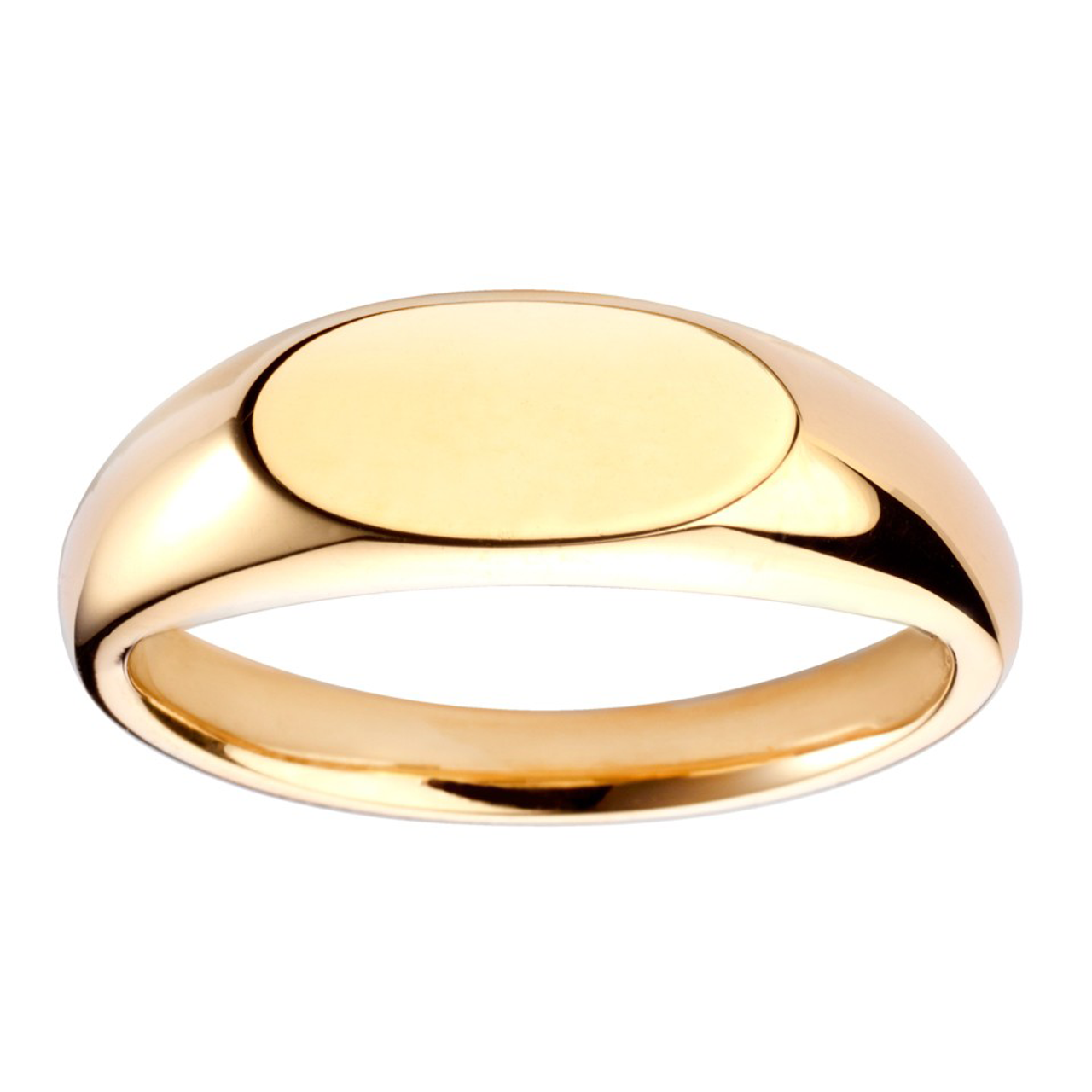 9ct Yellow Gold 11.5x6mm Oval Signet Ring