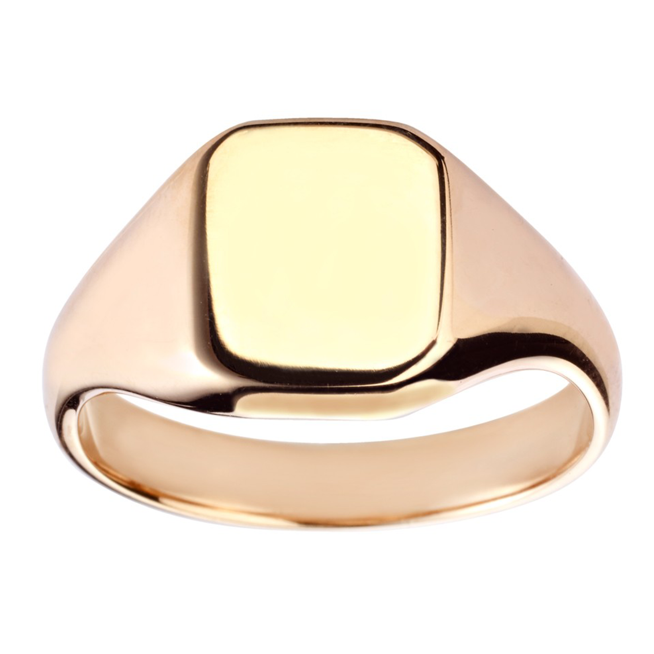 9ct Yellow Gold 11x10mm Cushion Signet Ring