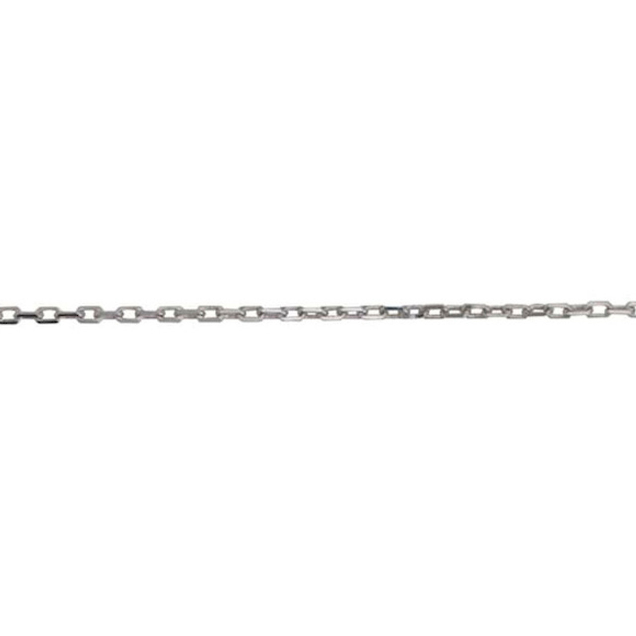 18ct White Gold Facetted Trace link Chain