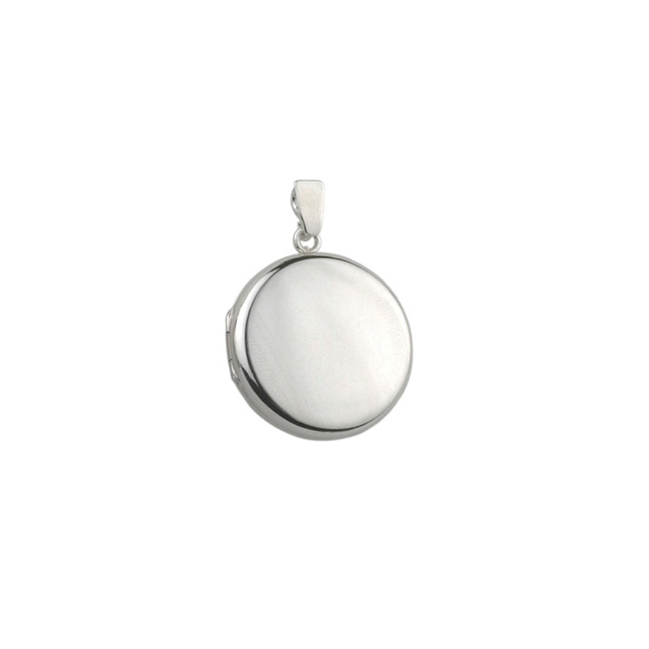 Silver 20mm round Locket & Chain