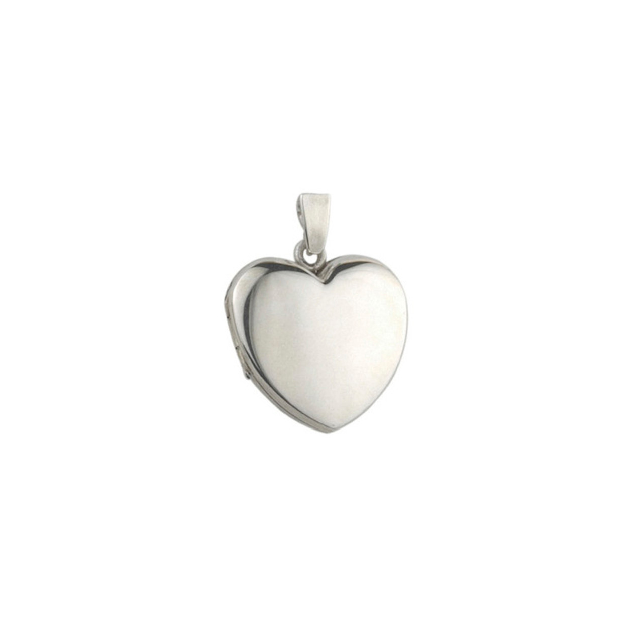 Silver 19mm Heart shaped Locket & Chain