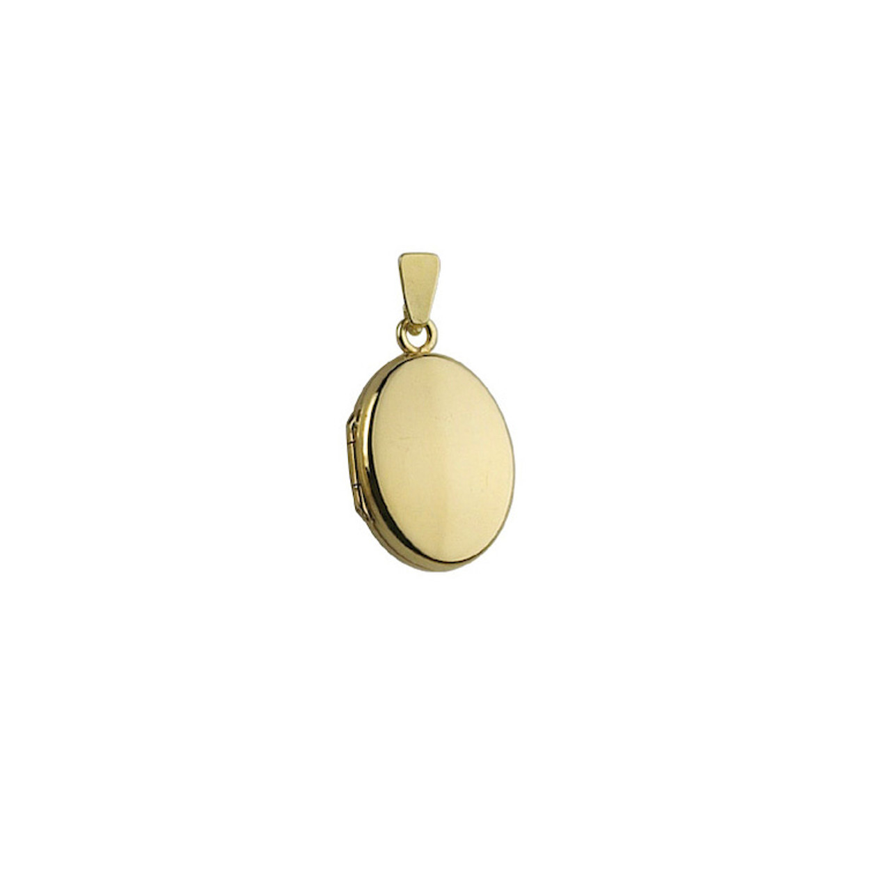 9ct Yellow Gold 18mm Oval Locket & Chain