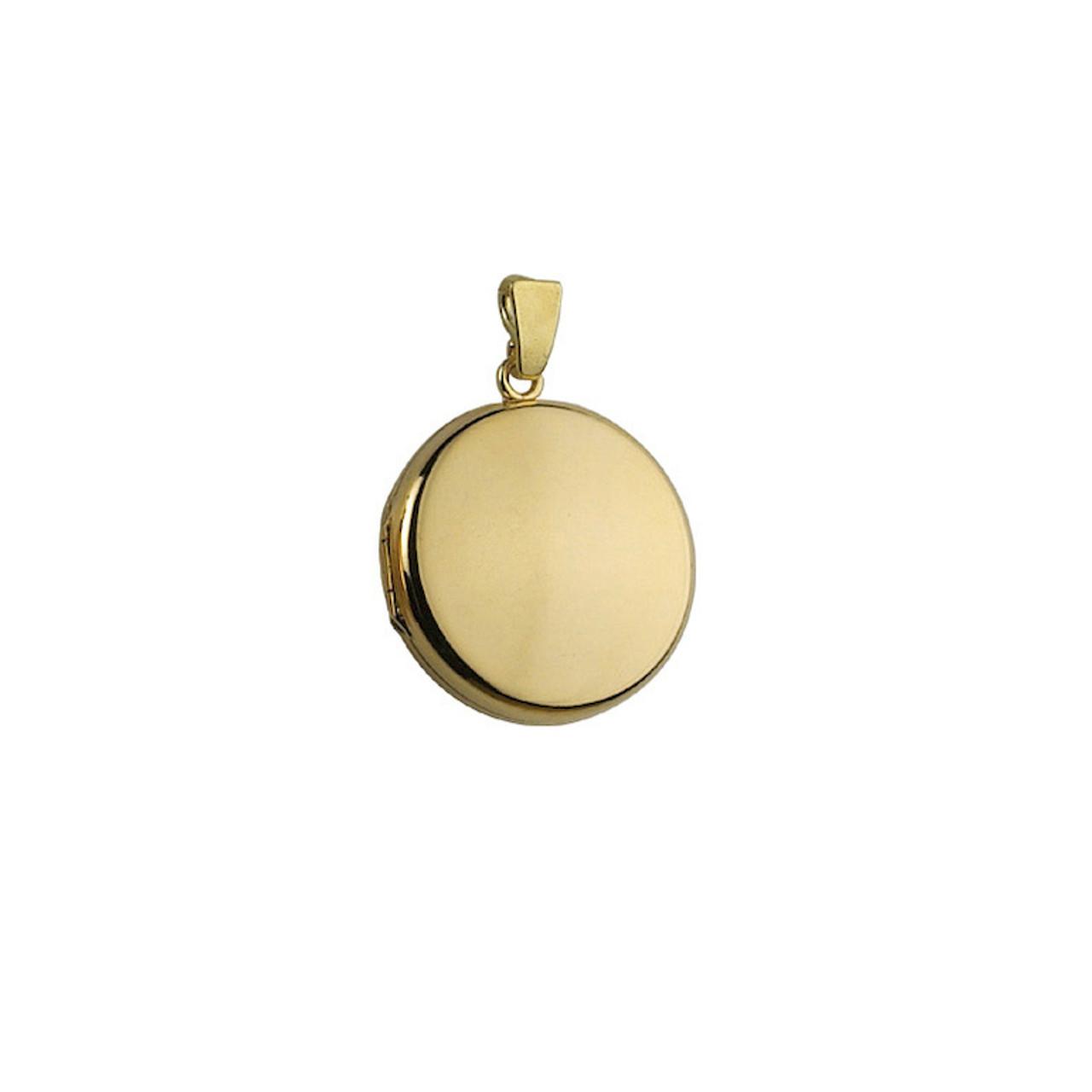 9ct Yellow Gold 20mm round Locket & Chain