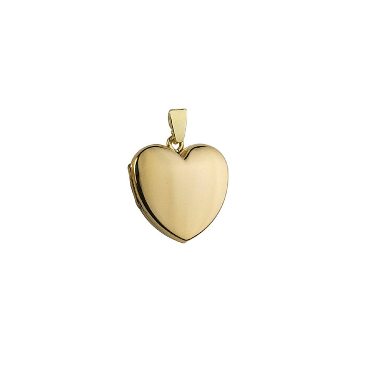 9ct Yellow Gold 19mm Heart shaped Locket & Chain
