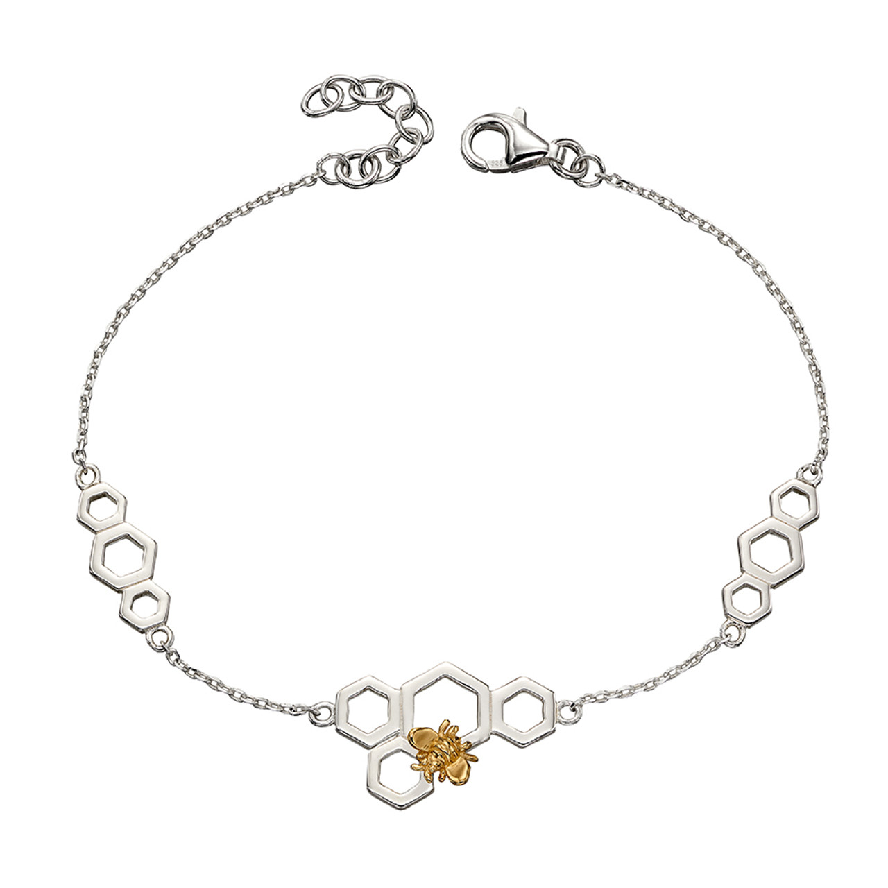Silver & Gold Plated Bee Bracelet