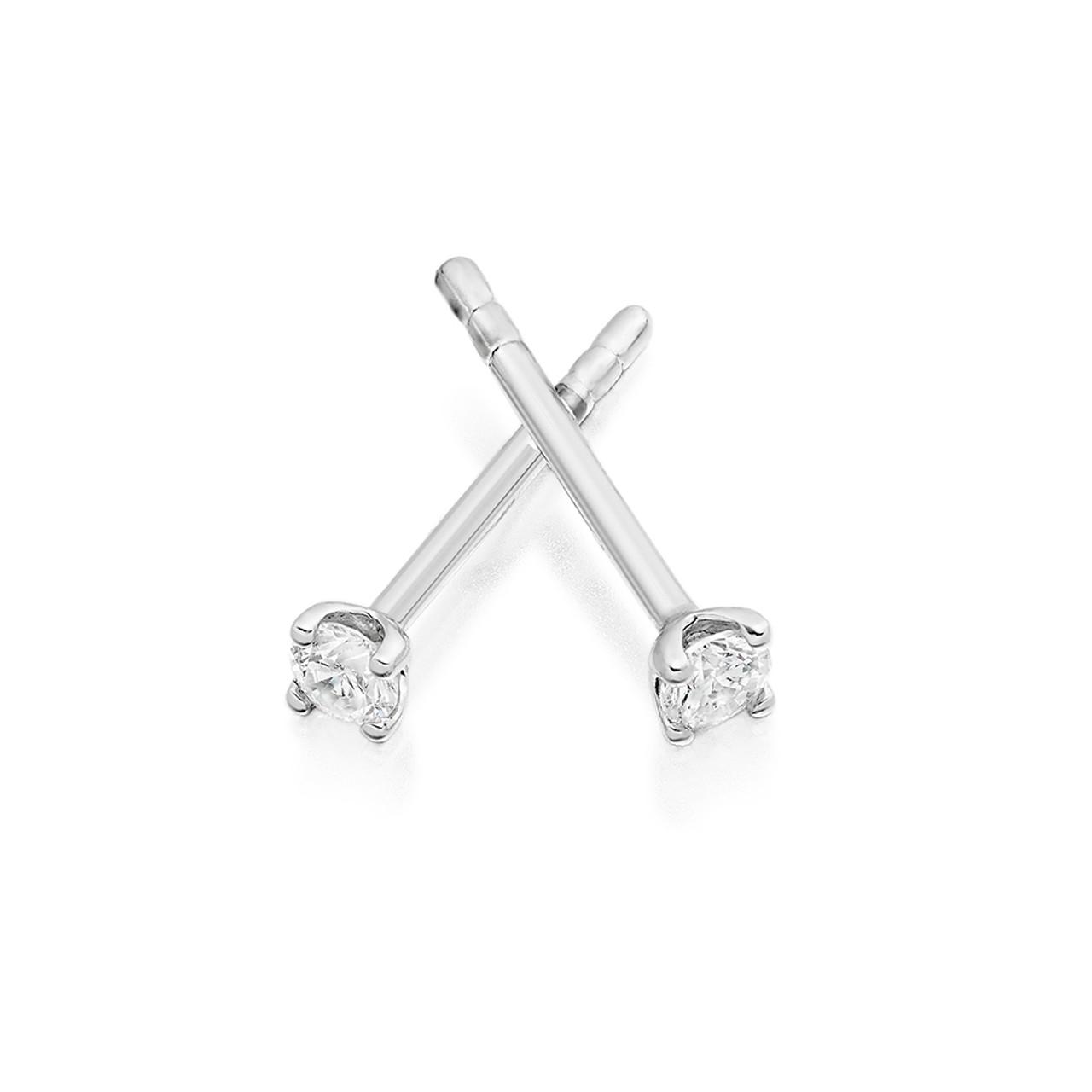 18ct White Gold 0.10ct Diamond Stud Earrings