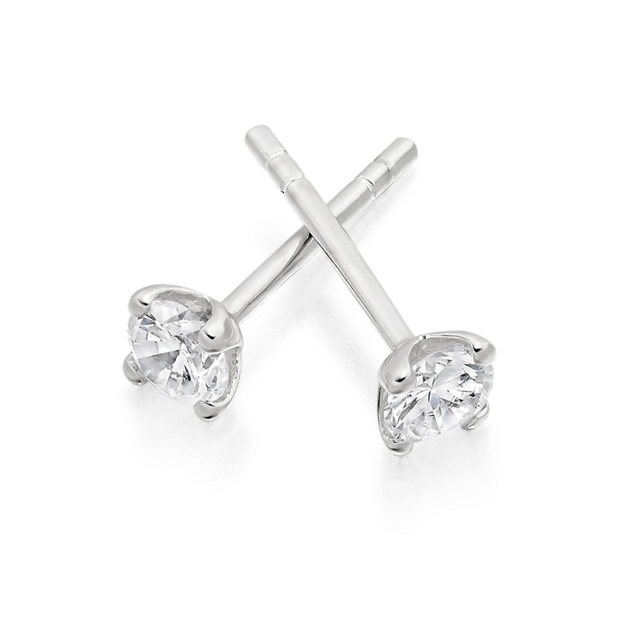 18ct White Gold 0.40ct Diamond Stud Earrings