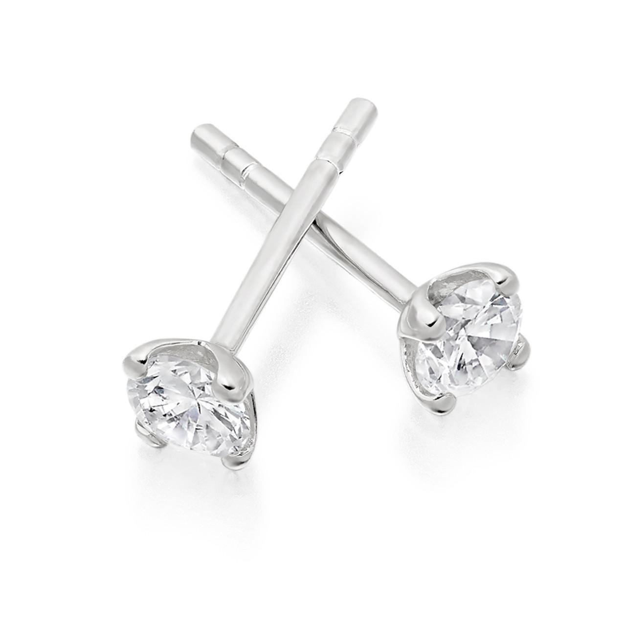18ct White Gold 0.50ct Diamond Stud Earrings