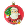Vaillancourt Jingle Ball Ornament - Classic American Santa with Tree | The Shops at Colonial Williamsburg