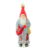 Vaillancourt Cardinal Coat Santa Ornament