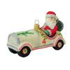 Vaillancourt Santa with Vintage Car Ornament