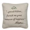 Thomas Jefferson Grandchildren Quote Embroidered Pillow with Magnolia Flower