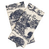 Blue Townscape Toile Towels