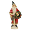 Vaillancourt Red Santa with Apple Pinecone Wreath