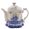 Blue and Cream Export Teapot