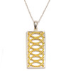 Sterling Silver and Gold Plated Albemarle Chair  Pendant