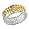 Sterling Silver and Gold Plated Albemarle Hoop Ring