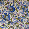 Colonial Williamsburg Reproduction Fabric - Blue Exotic Flowers 100% Cotton Fabric