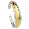 Two Tone Sterling Silver and Gold Plated Cuff
