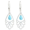 Turquoise Sterling Silver Leverback Earrings