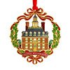 Governor's Palace with Wreath Etched Ornament