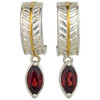 Garnet Fern Leaf  Earrings