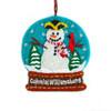 Snowman Snowglobe Wool Ornament