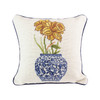 Yellow Daffodils Delft Vase Pillow