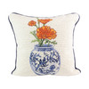 Poppy Delft Vase Pillow