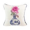 Rose Delft Vase Pillow
