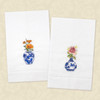 Rose and Poppy Delft Vase Guest Towels