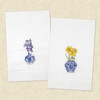Iris and Daffodils Delft Vase Guest Towels