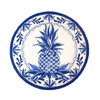 Blue and White Pineapple Round Rug