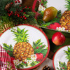 Holiday Pineapple Bamboo Dinner Plate