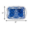 Blue Pineapple Bamboo Serving Tray