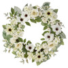 White Mixed Floral Wreath